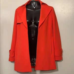 VINCE CAMUTO BLAZER JACKET RED OPEN FRONT XS